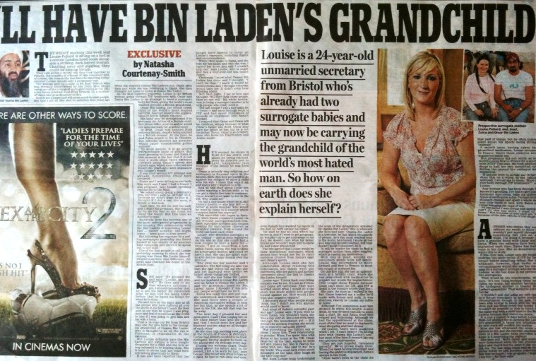 Louise's story in the Daily Mail