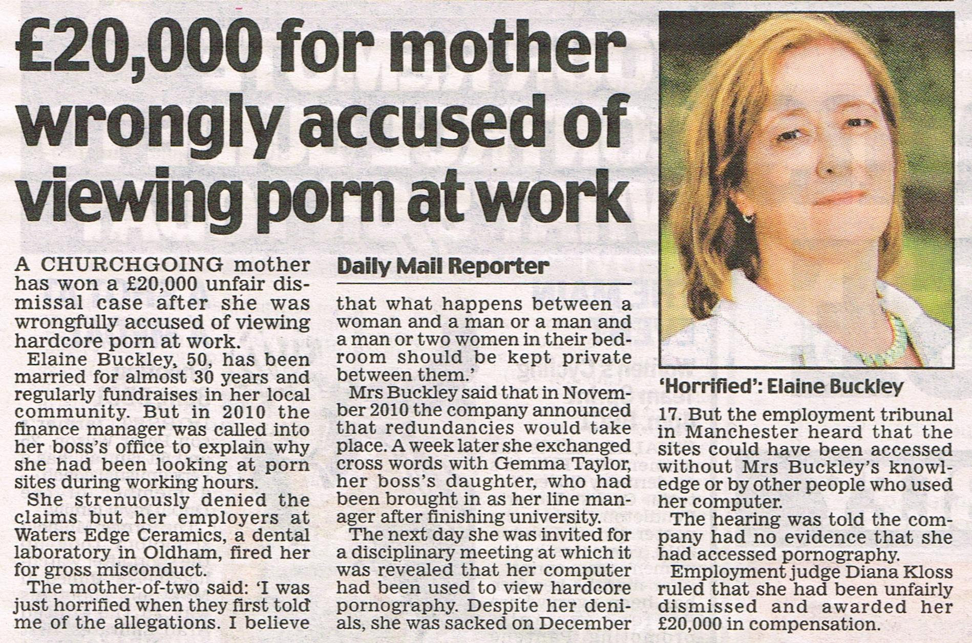 ... case when her employer accused her of viewing porn sites at work.