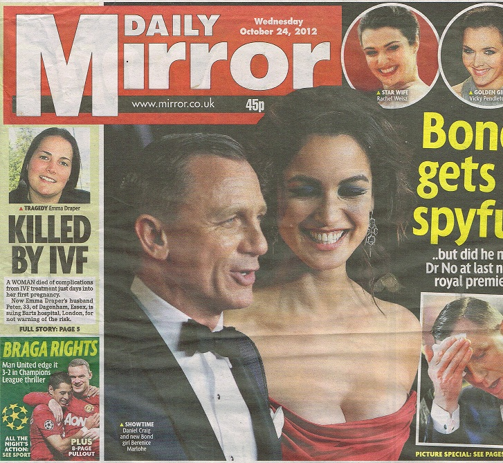 sell story to Mirror newspaper