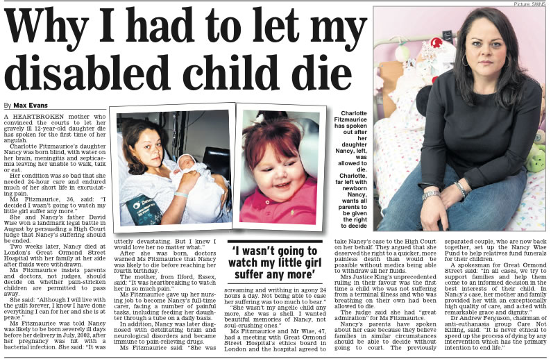 Charlotte Fitzmaurice Daily Express