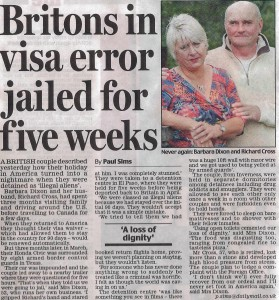 holiday from hell, sell story to Daily mail, visa mixup, visa error