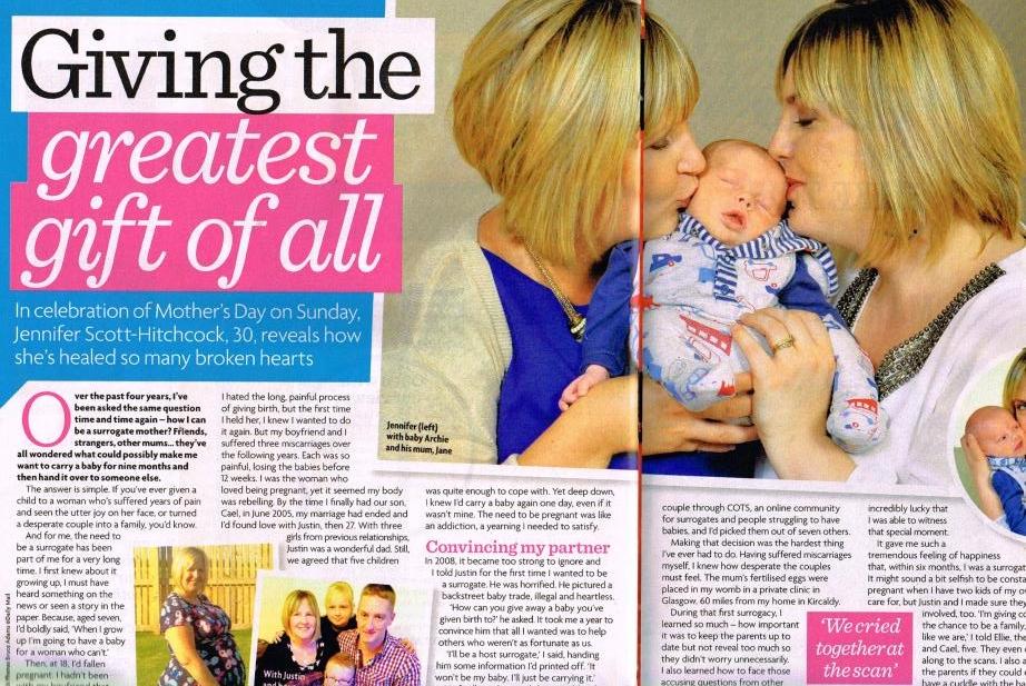 surrogacy story Woman's Own magazine