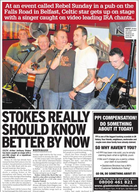 sell story to Daily Record newspaper