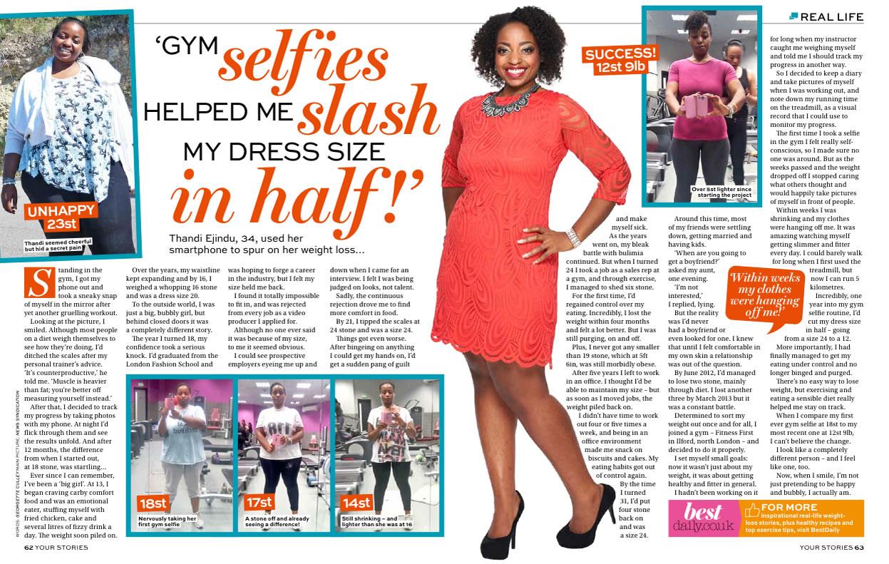 RL Gym selfie slimmer
